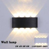 Lampa ścienna Nordic LED Aluminium Wodoodporna IP65 Górna i Downa Luminescencja mający zastosowanie do lampki nocnej, Łazienka schodowa, KTV Bar