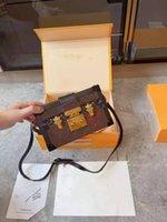 Designer Box Petite Malle Handbags Borse da sera Borsa da sera in pelle Borsa a tracolla a tracolla in melma frizione