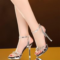 Sandals Crystal Sexy High Heel Pumps Women Shoes Heels For Wedding Woman Gold Sliver Sandalias Mujer 2021