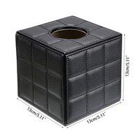PU-Leder-Tissue-Kastenhalter, quadratischer Serviettenhalter-Pump-Papier-Gehäusespender, Gesichtsbehandlung mit magnetischem Boden für Boxen Servietten