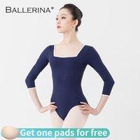 Ballerina Ballet Trikot für Frauen Yoga Sexy Tänzerin Trikots Luftfahrer Bodysuit Gymnastik Mädchen Kostüme 5922 Bühnenabzug