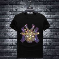 Rhinestones Spider T Shirts Men Brand Short Sleeve Fashion Man Streetwear O Neck Slim Modal Cotton Tshirts Plus Size 7XL