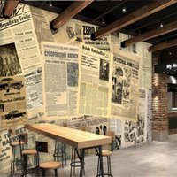 Wallpapers Wellyu Custom Wallpaper European And American Old Spaper Bar Cafe Background Wall Decorative Painting 3d