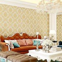 Wallpapers Self-adhesive Embossed Non-woven Wallpaper 3D European Damas Home Improvement Bedroom Dormitory Sofa TV Back