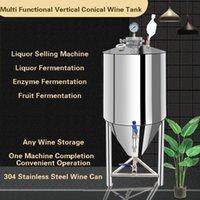 ホームワイン製造機304ステンレス鋼の酒タンク密封バレル収納容器乳発酵油