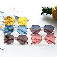 INS 키즈 선글라스 2021 소녀 불규칙한 다각형 프레임 선글라스 어린이 UV 보호 안경 패션 소년 오션 해변 안경 A7387