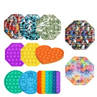 Big Size Fidget Toys 20*20cm Pops It Square Antistress Toy Rainbow Push Bubble Figet Sensory Squishy Jouet Pour Autiste HHE6432