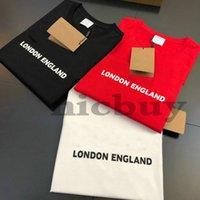 21SS 봄 여름 디자이너 런던 잉글랜드 T 셔츠 남성 여성 편지 인쇄 T 셔츠 3 색 짧은 소매 캐주얼 탑 티