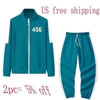 Squid Game Hoodie Sets Unmisex Autumn Winter Sports Zipper Cardigan Digital Printing Pocket Pullovers 456 Sweatshirt 067 Jacket