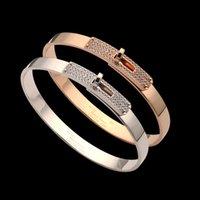 الفاخرة مصمم مجوهرات النساء سوار الذهب الإسورة للرجال مع الماس الروتاري مشبك الشرير h أوروس الفولاذ المقاوم للصدأ الأزياء والأزياء النجوم نمط