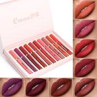 Cmaadu 10pcs Matte Liquid Lip Lip Gloss Lipstick Rouge A Levre Lipgloss Impermeabile Lunga durata Rossetti Kit
