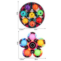 DHL SHIP Novelty Squid Game Finger Pop Toys Spinner Fidget Gyro Push Bubble Toy Decompression X1666A