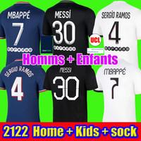 Messi 30 camisas de futebol mbappe sergio ramos wijnaldum 21 22 Maillots de futebol camisa 2021 2022 icardi homens kit kit uniformes enfants maillot pé