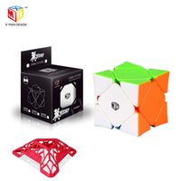QIYI X-MAN 디자인 WINGY 3x3 자기 스큐 큐브 오목한 위치 시스템 3x3x3 XMD Cubo Magico Professional 퍼즐 장난감 선물