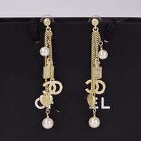Moda Küpe Ev Küçük Kokulu Rüzgar Parfüm Şişesi Aşk Inci Uzun Küpe 925 Kadın Gümüş İğne Kulak Çiviler