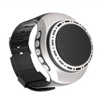 Portable Speakers U6 Wrist Watch BT Speaker Card With Radio FM Outdoor Sports Running LED Colorful 32GB Memory