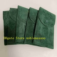 5PCS Top Perpetual Green Watch Cloth Bag Boxes Travel Collection 70mm x 130mm For Use Watches President 126610 116500 116660 116610 126710 126600 126622 126710blnr