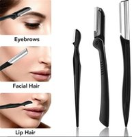 Wholesale 7 in 1 Eyebrow Trimmer Kit Face Razors Shavers Exfoliating Dermaplaning Tool Facial Razor Scissors Brush Tweezers
