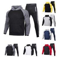 Men's Tracksuits Winter Sport Wear Tracksuit Clothes Outfits Set Sweatshirt+Long Sweatpants Men Pants Pantalon Chandal Hombre E1