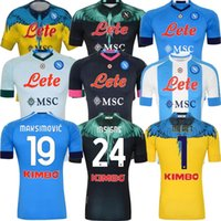 Napoli Soccer Jerseys 2021 2022 Maradona Maglietta دا Calciatore Osimhen Insigne SSC نابولي Kits Verdi Fabian Koulibaly الرجال قميص كرة القدم التايلاندية
