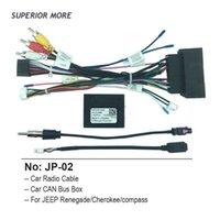 Cavo per auto radio BUS BUS Box per Jeep Compass Cherokee Renegade Cablaggio elettrico Android Multimedia Connettore audio Presa