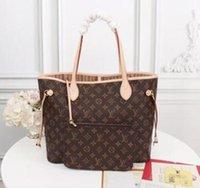"""2021 Frauen Luxurys Designer Taschen Frauen Crossbody Bag Echte Handtaschen Geldbörsen Lady Tote Münze Geldbörse 2 stücke M40156AALV """"Louis"""" Vitton Vutton"""