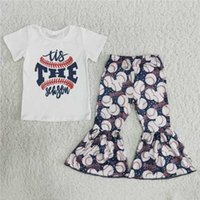 Designer Toddle Girl Clothes The White Tee Top Baseball Bell Bottoms Trousers Kids Wear Spring Free