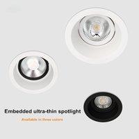 Tavan Işıkları 2021 Kısılabilir COB Downlight AC85-260V 5 W ~ 18 W Parlama Anti-Parlama Spot Işık Gömülü Ev LED Giyim Mağazası