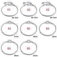 Bracelet Beads Silver Sterling Snake 925 Chains Jewelry Fashion European Women&men Charm Bracelet For LOVE S Fit DIY Bangle Gift Pulbi