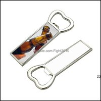 Openers Tools Kitchen, Dining Home & Gardenmetal Sublimation Blank Beer Bottle Opener Fridge Magnet Heat Transfer Portable Bar Corkscrew Hou