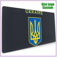 마우스 패드 손목은 우크라이나의 외투에 우크라이나의 국기를 지원 젤 개인화 된 맞춤형 멋진 긴 확장 면도기 RGB 큰 XXL