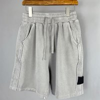 topstoney Men's high quality cotton shorts European and American style Loose summer beach pants Leisure fashion