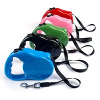 Dog Apparel 3M 5M Retractable Leash Training Leashes Lead Rope Walking Nylon Collar One-handed Lock For Pet