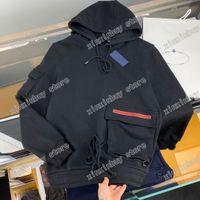 2021 Designer Herren Damen Dreieck Druck Hoodies für Mann Paris Mode Sweatshirts Top Qualität T Shirts Straße Kurzarm Luxurys T-Stück Asiatisch M-XXL