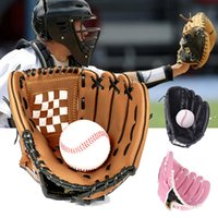 Outdoor Sports Gloves Youth Adult Left Hand Practice Thick Damping Infield Pitcher Softball Baseball Leather Glove Training Equipment Accessories