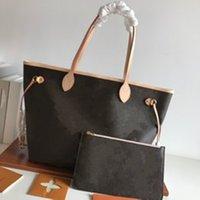 2021 Klassische Frau Echte Oxidation Leder Schulter Tragetaschen Handtaschen Frauen Messenger Shopping Geldbörse Shopper Bag 32cm 40cm