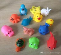 Mixed Animals Swimming Water Toys Colorful Soft Floating Rubber Duck Squeeze Sound Squeaky Bathing Toy For Baby Bath Toys_xm02