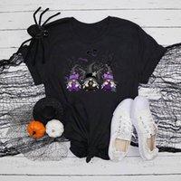 Women's Blouses & Shirts Blouse Halloween Gnomes Print Round Neck Short-sleeved Blusas Femininas Com Frete Gratis Promoçao Y Camisas