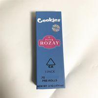 Cokies Preroll Juntas Pacote 3 Pack Seco Herb Armazenamento Crianças Caixa Resistente Rolling Paper Packaging 1.7 * 4.9in