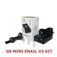 Authentic G9 Mini Enail V2 Kits DIY Electronic Portable Dnail E-cigarette Kit Wax Vaporizer Control Heater Dabber Box Dab Tool Hot 100% Genuine