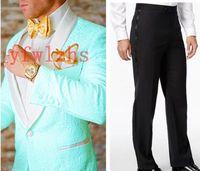 Handsome Embossing Groomsmen Shawl Lapel Groom Tuxedos Mens Wedding Dress Man Jacket Blazer Prom Dinner suits (Jacket+Pants+Tie)W506