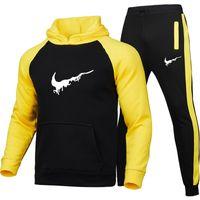 Yüksek kaliteli erkek ve kadın spor spor giyim erkek koşu takım elbise hoodies kazak ilkbahar ve sonbahar rahat spor gömlek takım elbise