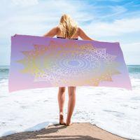 NewMicrofiber пляж полотенце полосатый леопард быстрые сухие полотенца прямоугольный геометрический дизайн бассейна для кемпинга ванная комната одеяло море доставка EWB7993
