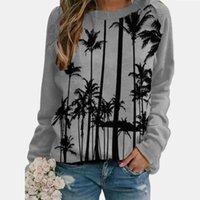 Women's Sweatshirts Hoodie Winter Warm Print Long Sleeve O-neck Loose Casual Female Pullovers Pullover Top #40 Hoodies &