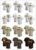 맞춤 저지 망 청소년샌디에고패드들19 Tony Gwynn 23 Fernando Tatis Jr. 51 Trevor Hoffman 13 Manny Machado Baseball Jerseys