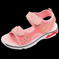 Summer Kids Sandals Sport Sneakers Fashion Sequins Children Girls Baby Flat Beach Sandals Toddler Girls Sandals Size26-37 SC186 W0108