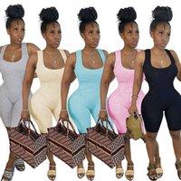 Dress Summer Abbigliamento Donne Pantaloncini Turni Tute Moda Lettera Pagliaccetto Skinny Gilet Bodysuits Casual Serbatoio Casual Top Tuta Leggings Ship 4579