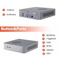 Mini PC AMD Ryzen 7 4800h 5 4600h 8 Cores 16 المواضيع M.2 NVME SSD الكمبيوتر المكتبي DP Type-C WiFi6 PCS