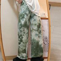 Women's Pants & Capris Summer Cool Tie Dye Harajuku Punk Casual Loose Autumn Trousers Korean Fashion Funny Men Hip Hop Japan Women