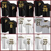 21 Roberto Clemente Бейсбол Джерси Питтсбургские Pirates 8 Whilie Stargell 55 Josh Bell Starling Marte Chris Archer Kent Tekulve Ivory
